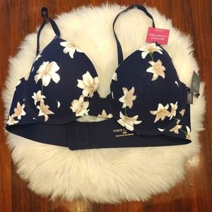 Vince Camuto Smooth T-shirt Bra Blue Floral